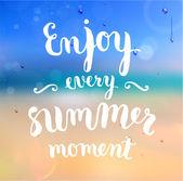 Enjoy every summer moment — Stock Vector