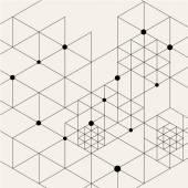 Modern Black Techno Geometric Pattern — Stock Vector