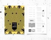 Fondo de patrón geométrico abstracto con infografía — Vector de stock