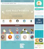 One Page Website Design — Stock Vector