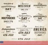 Set of Independence Day Labels — Stock Vector