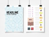 Infographic with Abstract Geometric Pattern — Cтоковый вектор