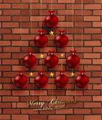 Christmas Balls in shape of Christmas Tree. — Stock Vector