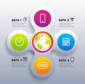 Infographic Digital Template. — Stockvector