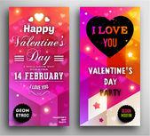 Invitation Saint-Valentin. — Vecteur