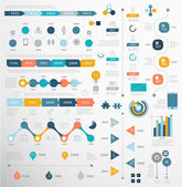 Set of Timeline Infographic — Stock Vector