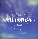 Summer Time Background. — Stock Vector