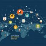 Social Network Vector Concept — Stock Vector #70420781