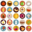 Food and Drinks Icons Set. — Stock Vector #70422547