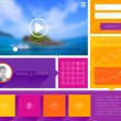 Website Design Template with UI Elements — Stockvector  #70425957