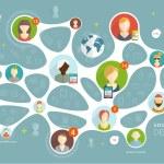 Social Network Vector Concept — Stock Vector #70426545