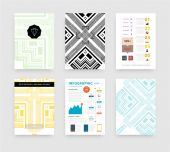 Infographic with Abstract Geometric Patterns — Cтоковый вектор