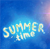Lettering Summer Time — Stock Vector