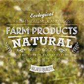 Farm Organic Products Label — ストックベクタ