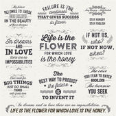 Set of Quotes Typographical Posters — Stock Vector