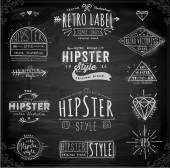 Design Hipster Style Vintage Elements — Stock Vector