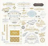 Vintage Design Label Elements Collection — Stock Vector