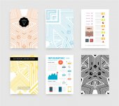 Infographic with Abstract Geometric Patterns — Vettoriale Stock
