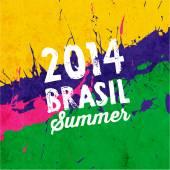Geometric Brazil 2014 Summer Background — Stock Vector
