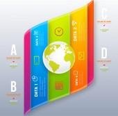 Infographic digitale sjabloon. — Stockvector
