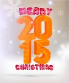 Merry Christmas 2015 Holiday Design — Vetor de Stock