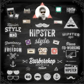 Hipster style infographics elements — Stock Vector