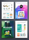 Infographic with Geometric Pattern — Vettoriale Stock