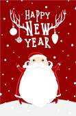 Santa Claus with New Year Label — Vetor de Stock