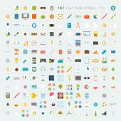 Collection of Flat Design Web Icons — Stock Vector