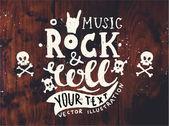 Vintage etiket, Rock and Roll tarzı. — Stok Vektör