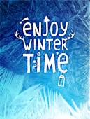 Blue Winter Background for Christmas Designs — Cтоковый вектор
