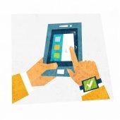 Mobile Technologies Concept. — Stock Vector