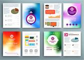 Set of Flyers, Brochure Design Templates — Stock Vector