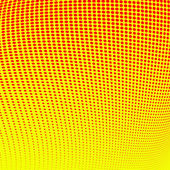 Abstract red halftone on yellow background — Stock Photo