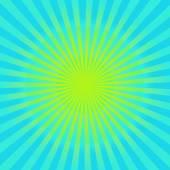 Cyan and yellow sunburst  background — Stock Photo