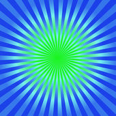 Green and blue starburst  background — Stock Photo