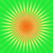 Green and yellow sunburst  background — Stock Photo