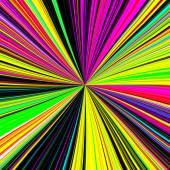 Neon disco sunburst effect background — Stock Photo