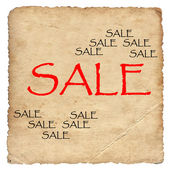 Sale on old paper background — Stock Photo