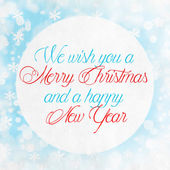 Merry Christmas Season Greetings Quote  — Stock Photo