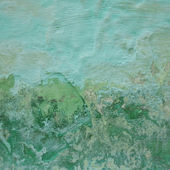 Grunge green wall background — Stock Photo