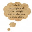 Inspirational quote by Confucius on speech bubble paper — Stock Photo #64964255