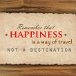Inspirational quote on grunge paper against wood background — Stock Photo #64968167
