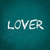LOVER written on chalkboard — Stock Photo