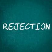 REJECTION written on chalkboard — Stock Photo