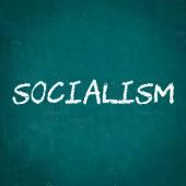SOCIALISM written on chalkboard — Stock Photo