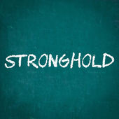 STRONGHOLD written on chalkboard — Stock Photo