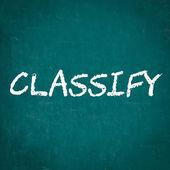CLASSIFY written on chalkboard — Stock Photo