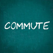 COMMUTE written on chalkboard — Stock Photo