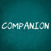 COMPANION written on chalkboard — Stock Photo